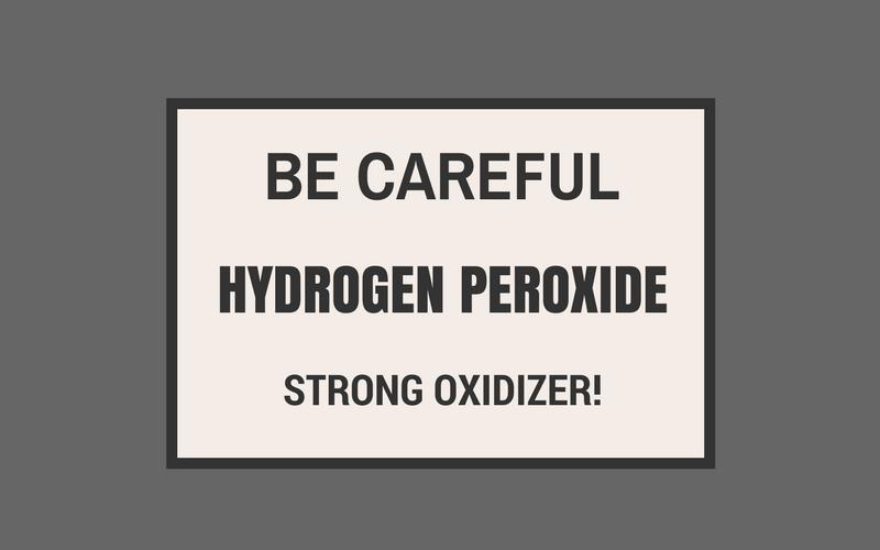 hydrogen peroxide dangers skin